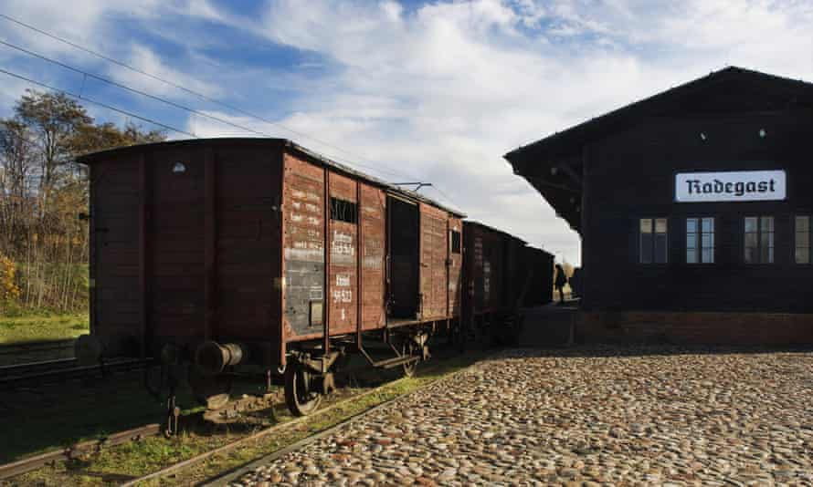Original cattle trucks at Radegast station used to deport prisoners to extermination camps: Lodz, Poland.