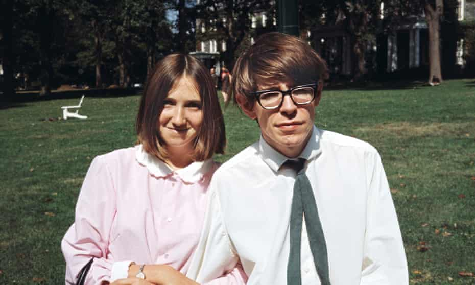 Stephen Hawking with his first wife, Jane.