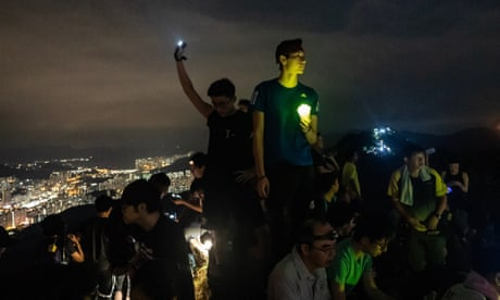 Hong Kong anti-government protesters take to the hills – in pictures