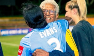 Shay Evans embraces John Moriarty
