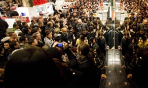Black Friday shoppers in New York.