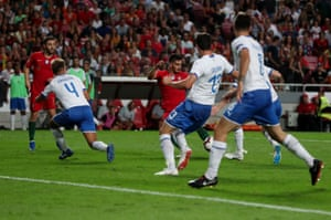 Andre Silva fires in the opening goal.