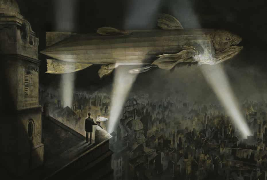Illustration from Black Dog – the Dreams of Paul Nash by Dave McKean. Black Dog explores the work of Paul Nash, one of the most important British artists of the twentieth century, whose First World War experiences inspired him to create paintings of disturbing, lasting power.