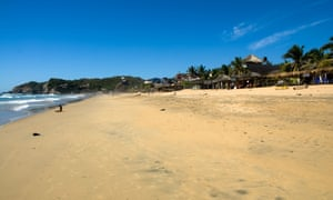 Oaxaca beach in Mexico, where Sea Monsters' narrator, Luisa, wanders 'aimlessly, in search of digressions'