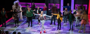 Layton Williams at the curtain call for Everybody's Talking About Jamie.