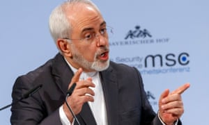 Mohammad Javad Zarif, Iran's foreign minister, speaks at the Munich security conference