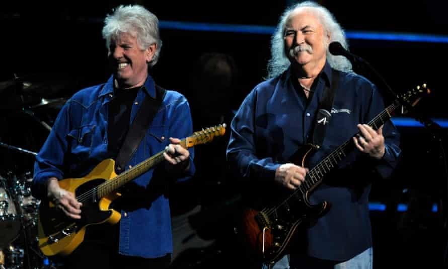 Graham Nash, left, and David Crosby in concert in 2009