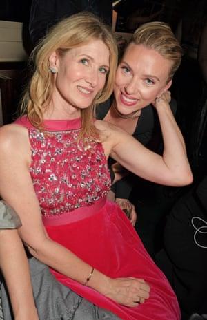 Laura Dern and Scarlett Johansson at Chiltern Firehouse