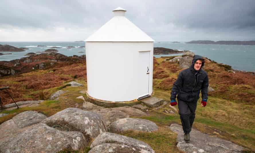 Arran Skinner arrived at Erraid in the Inner Hebrides