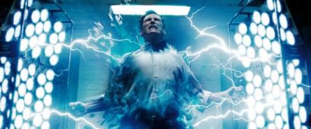 Crudup as Dr Manhattan in Watchmen.