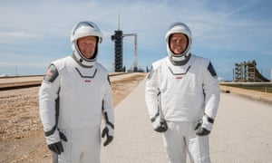 Astronauts Douglas Hurley (left) and Robert Behnken, part of Nasa and SpaceX's joint mission.