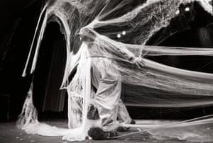 Russian performance artist and clown, Slava Polunin's Snowshow at the  Hackney Empire Hackney, London, 1995