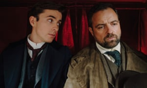 Odd couple … Matthew Beard and Juergen Maurer as doctor and detective on the trail of crime.