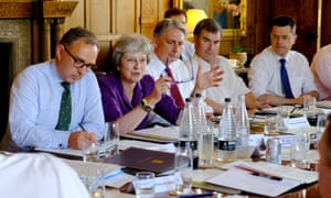 Theresa May at a meeting with her cabinet at Chequers last weekend to discuss Brexit.