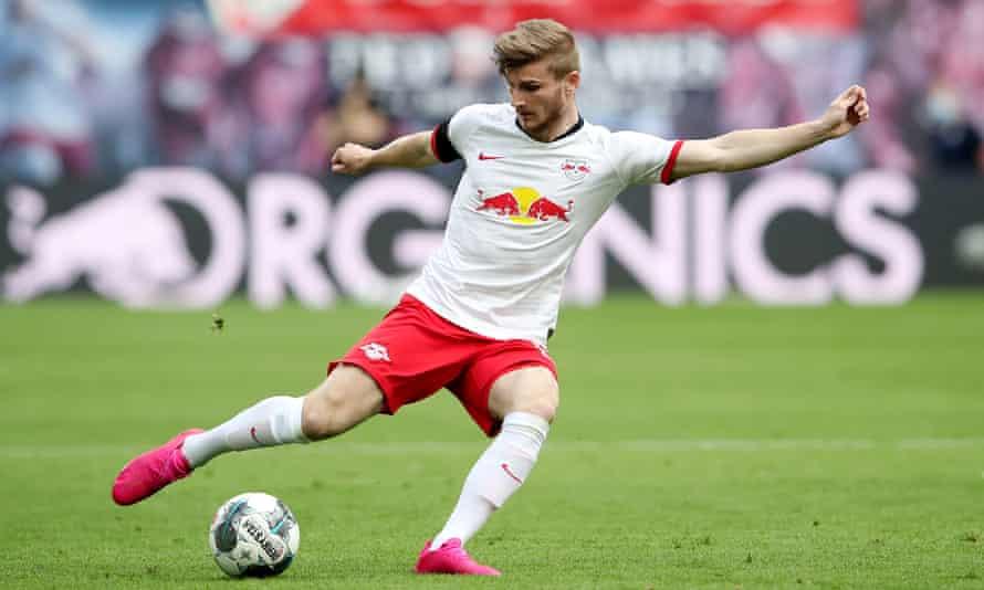 RB Leipzig striker Timo Werner in action against Hertha Berlin this week.