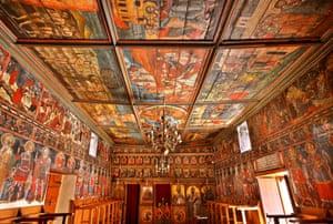 The all-painted church of Agios Athanasios.