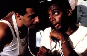 John Turturro and director Spike Lee in Do the Right Thing.