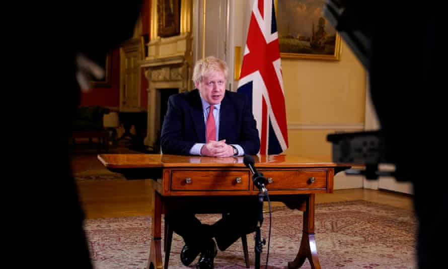 Boris Johnson addresses the nation on 23 March, announcing the UK would be placed in lockdown.