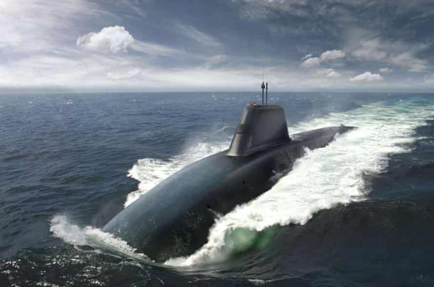 An artist's impression of the new dreadnought-class submarine.
