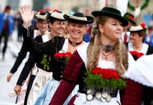 Other than beer, one of the main highlights of the event is the Oktoberfest costume and riflemen's parade