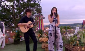 A garden session by Dua Lipa on the BBC.