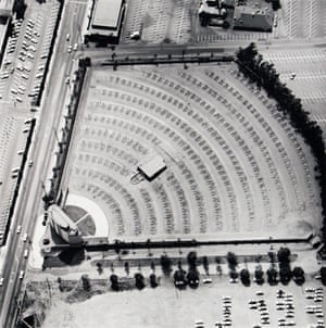 1967Gilmore Drive-In Theater - 6201 W Third St from the series Parking Lots by Edward Ruscha.