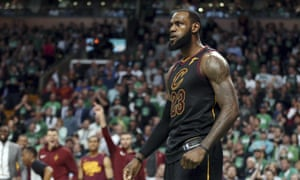 LeBron JamesFILE - In this May 27, 2018 file photo, Cleveland Cavaliers forward LeBron James celebrates a basket against the Boston Celtics during the second half in Game 7 of the NBA basketball Eastern Conference finals, in Boston. President Donald Trump has unleashed a withering attack on James, deriding the intelligence of one of the nation's most prominent African-American men ahead of a rally in the NBA star's home state of Ohio. Trump blasted James after an interview with CNN anchor Don Lemon in which James deemed Trump a divisive figure. Meanwhile, the president's wife, first lady Melania Trump, has offered kind words for the NBA star and his work on behalf of children. (AP Photo/Elise Amendola, File)