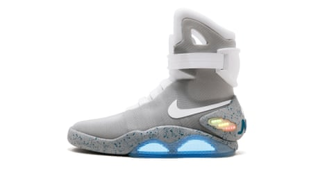The Nike Mags sneaker, the design worn by Marty McFly character in Back to the Future Part II film and one of only 1,500 pairs made