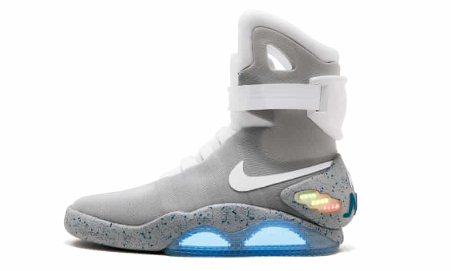 Fit for a time traveller … the Nike Mags sneaker worn by Marty McFly in Back to the Future Part II; the model is now listed for £99,000.
