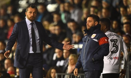 The Fulham manager Slavisa Jokanovic, left, was left unimpressed by a bizarre PR idea from the club's director of statistical recruitment, Craig Kline.