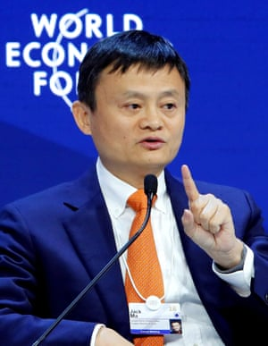 Jack Ma, Executive Chairman of Alibaba Group, at Davos today