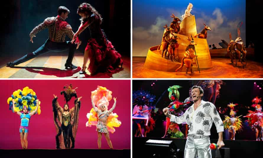 A composite featuring Strictly Ballroom, The Rabbits, Priscilla and The Boy From Oz.