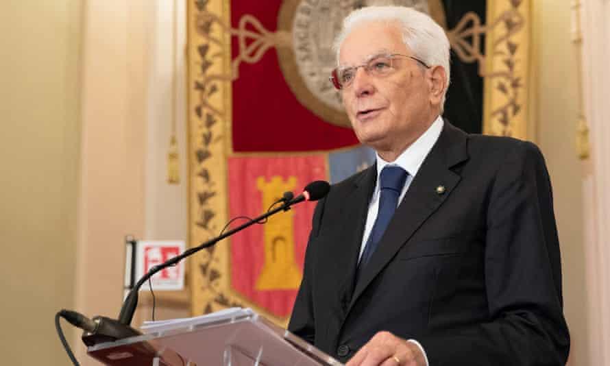 The Italian president, Sergio Mattarella, said Italians also cared about 'seriousness'.