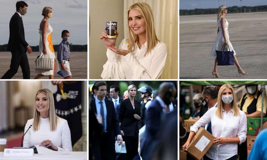 All white now: Ivanka Trump.