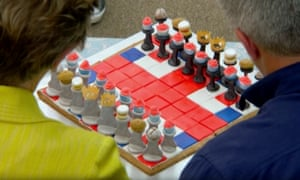 Biscuit brilliance: Steven's chess set.
