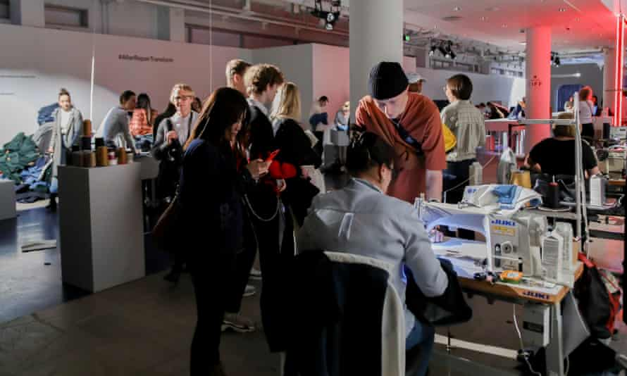 Denim upcycling and mending workshop A.R.T at the Copenhagen International Fashion Fair.
