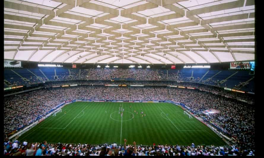 Germany and England met at the Silverdome in a World Cup warm-up in 1993