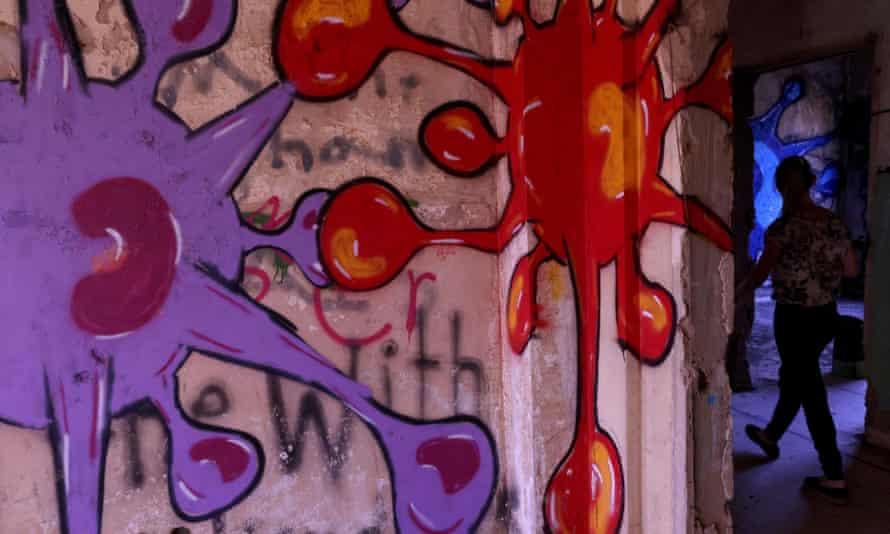 Covid-19 inspired graffiti, Golan Heights