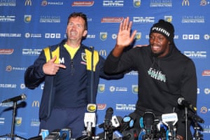 Mike Mulvey and Usain Bolt all smiles