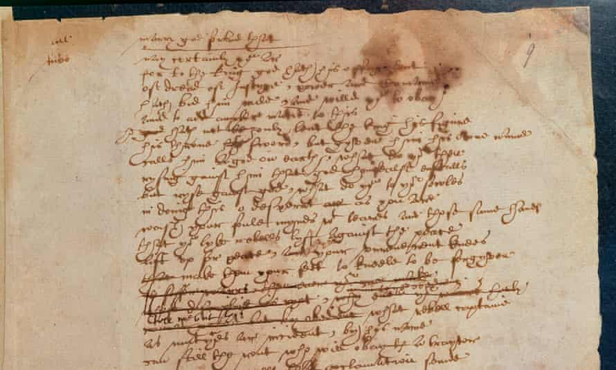 Part of The Book of Sir Thomas More, handwritten by William Shakespeare.