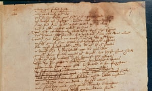 Shakespeare's handwriting in The Book of Sir Thomas More.