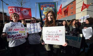 Pro-choice activists in Belfast