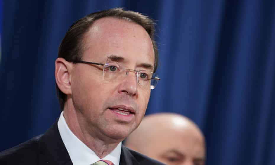 Rod Rosenstein is expected to step down next month.