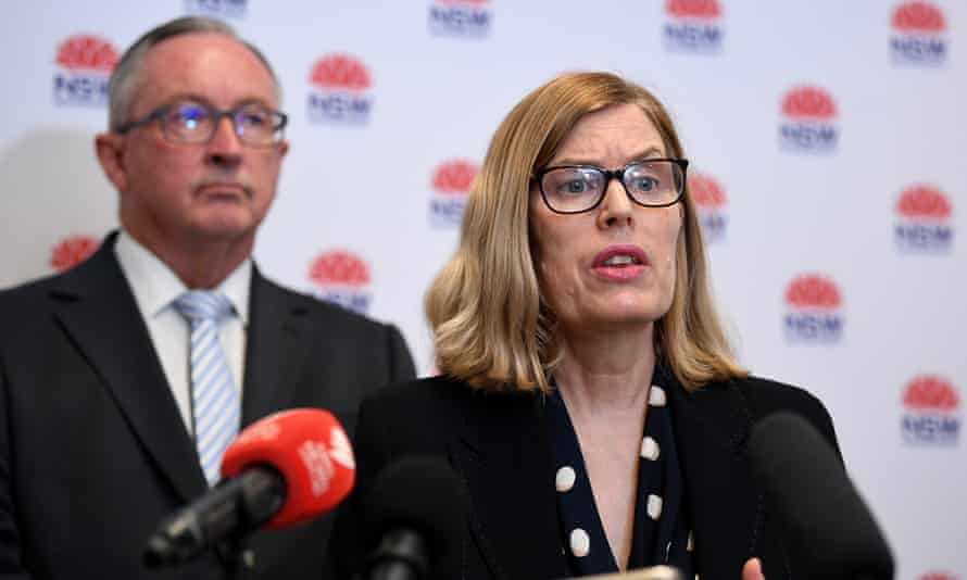 Health minister Brad Hazzard and NSW chief health officer Dr Kerry Chant