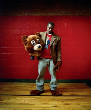 "Kanye West, Harlem, 2003. Says photographer Danny Clinch: ""Kanye was someone who clearly had a vision for what he wanted. By the time I did the cover of this album, I had already done a lot of classic covers and knew how to respect an artist's vision."""