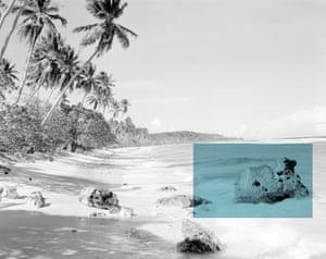 Sara Oscar Pleasant Island (The Pacific Solution) 2017 Courtesy the artist Pleasant Island beach scene