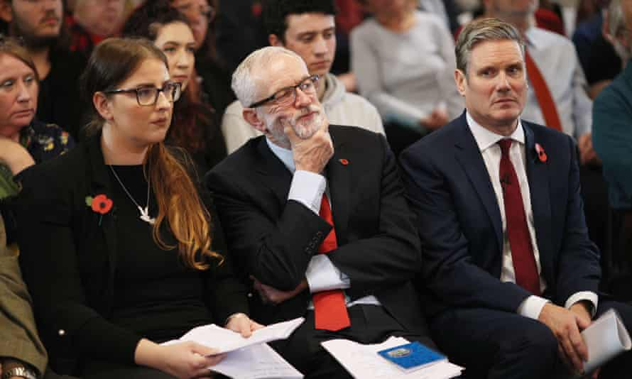 Former MP Laura Pidcock, former Labour leader Jeremy Corbyn and Keir Starmer, current leader.