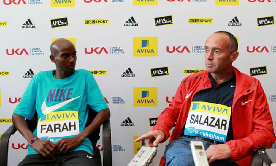 Mo Farah and coach Alberto Salazar pictured in 2011