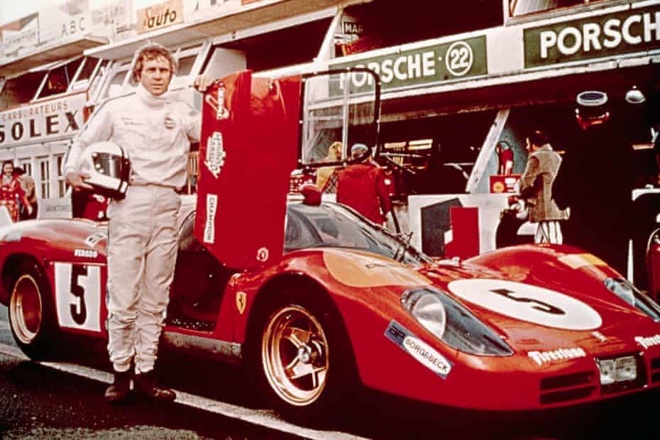 Steve McQueen at Le Mans.
