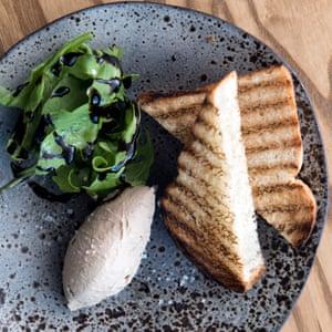 'Soft and smooth but unashamedly rich': chicken liver parfait.